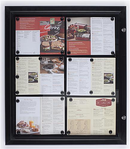 restaurant menu case