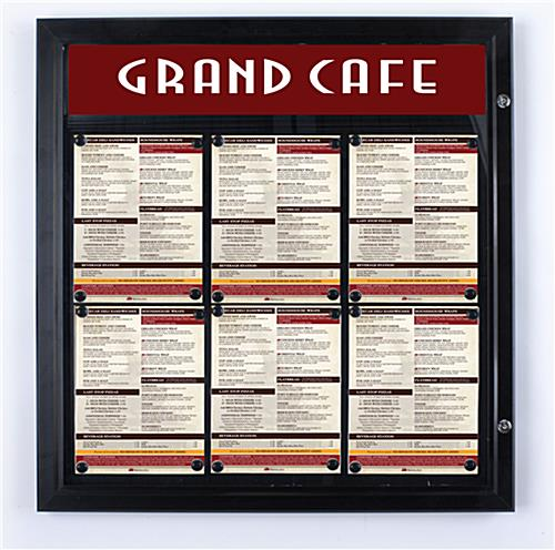 Outdoor Menu Cases with Locking Door