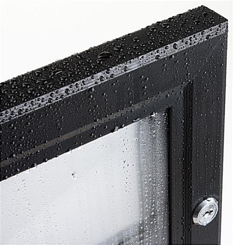 "31-1/8"" x 19-3/4"" Outdoor Menu Case For (3) 8-1/2"" x 14"" Mounts Vertically Or Horizontally"