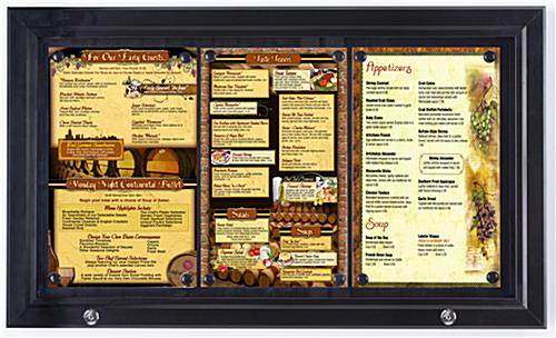 "31-1/8"" x 19-3/4"" Outdoor Menu Case"