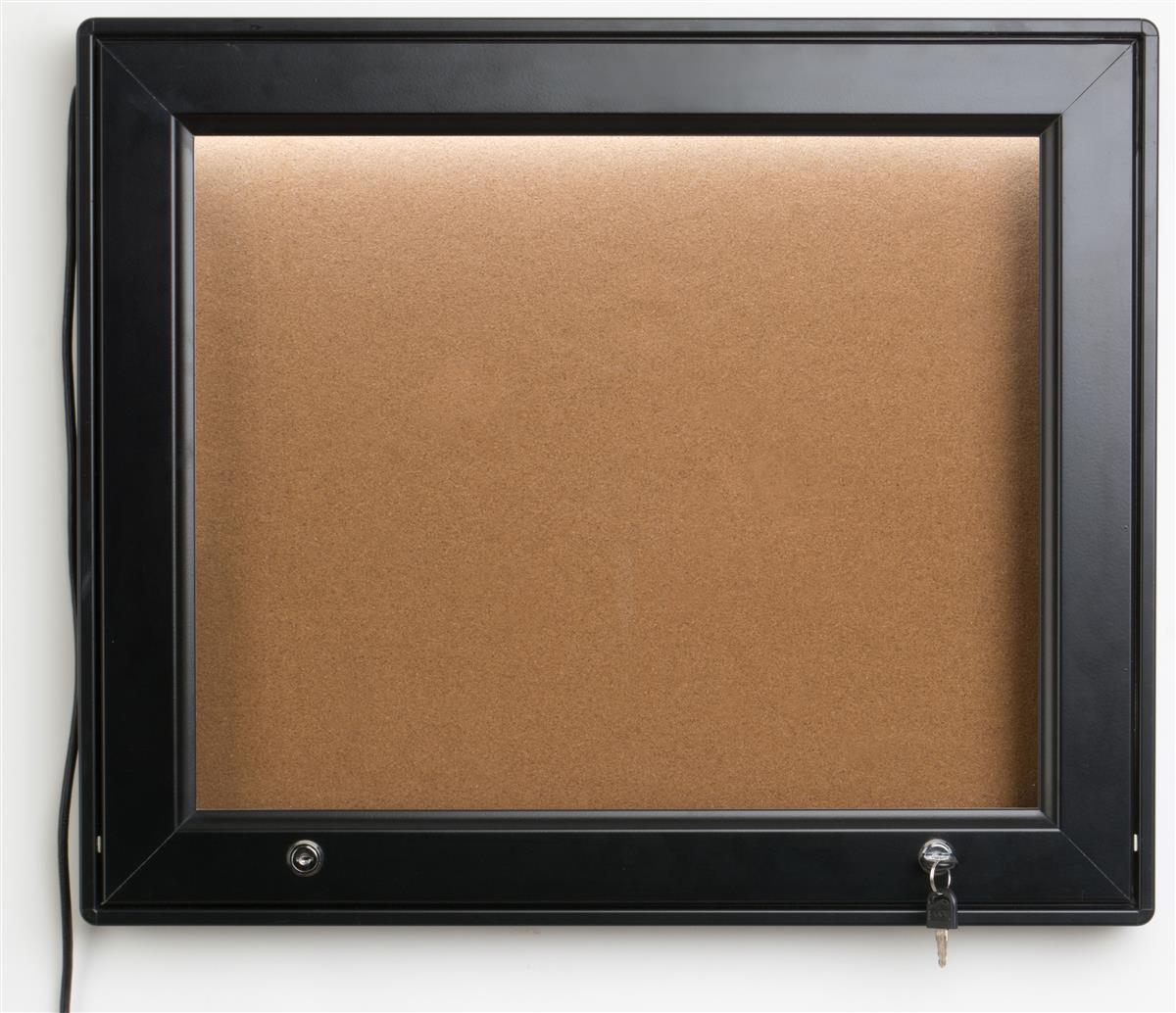 Displays2go Enclosed Bulletin Board for (2) 8.5 x 14 Shee...