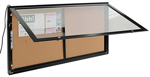 outdoor display cases locking weather proof wall mount