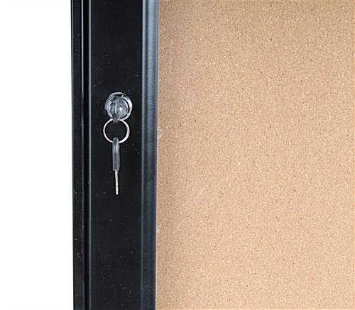 Secure Outdoor Menu Cabinet