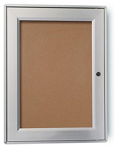 "Outdoor Corkboard: w/Locking Door 13"" x 19"""