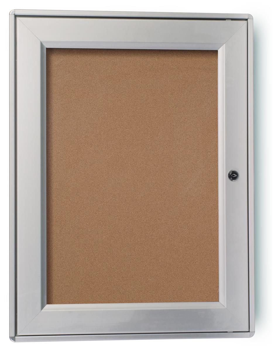 """Displays2go 24.5"""" x 18.5"""" Enclosed Bulletin Board for Out..."""