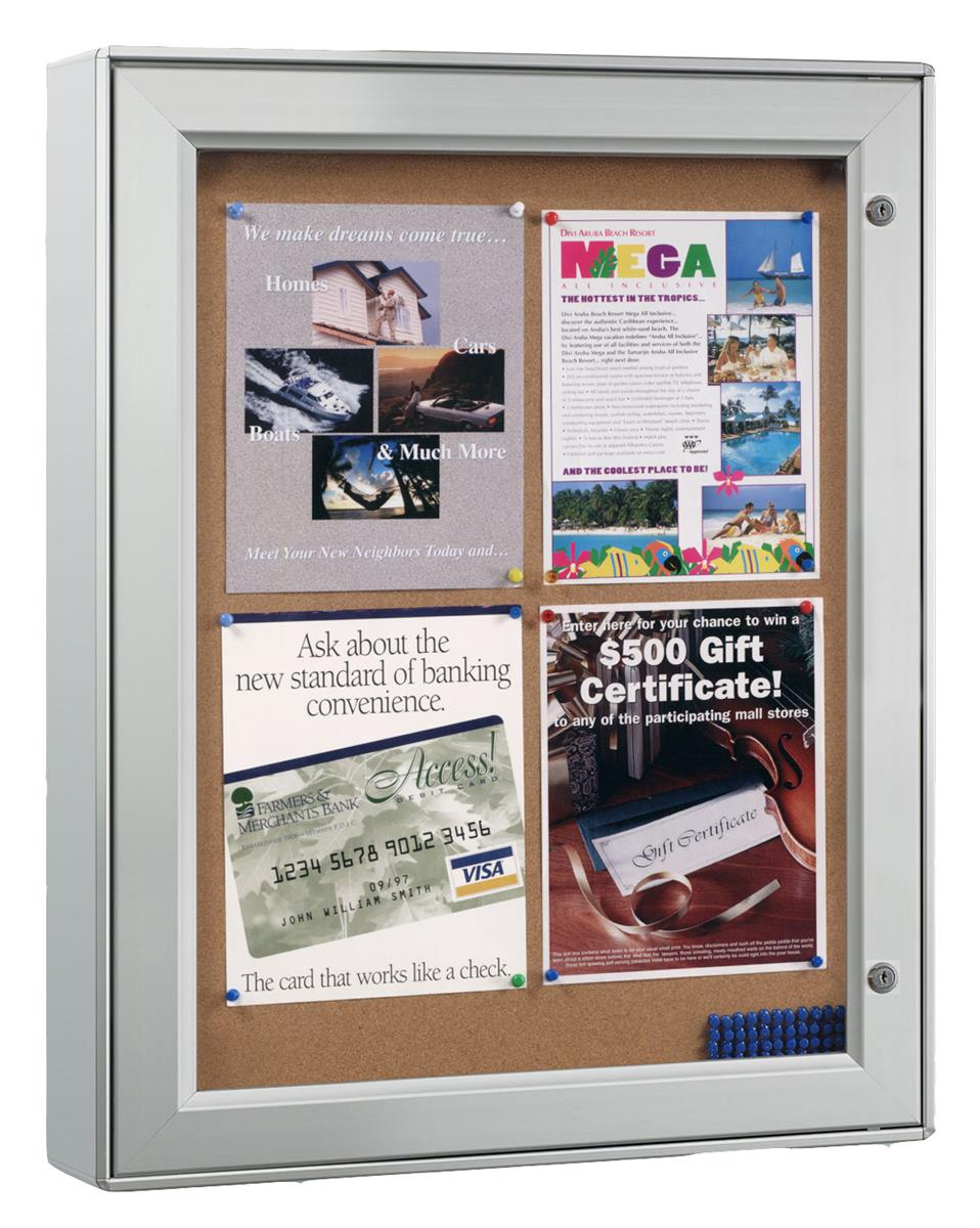 Displays2go Enclosed Bulletin Board for (4) 8.5 x 11 Sign...