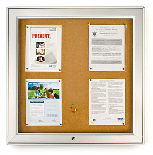 Enclosed Tackboards Rated For Outdoor Use