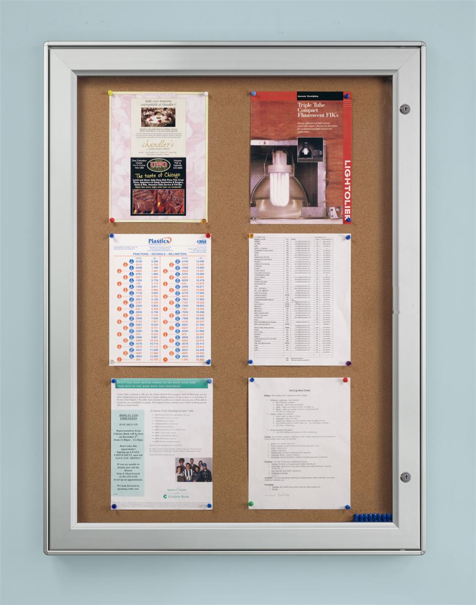 Notice Boards Outdoor Display With Cork Surface