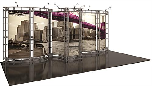 Orbus portable trade show display truss system 20' wide modular booth