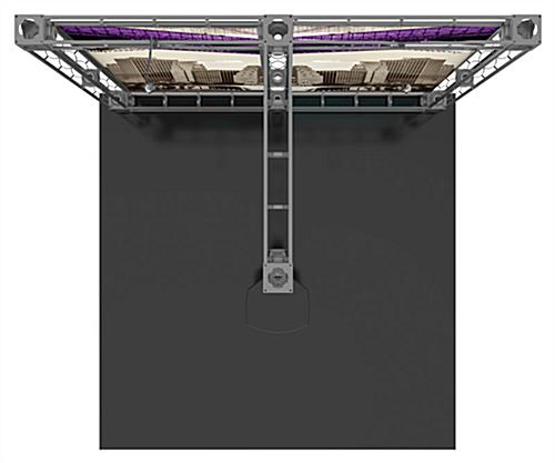 10ft trade show booth display kit with extended center truss