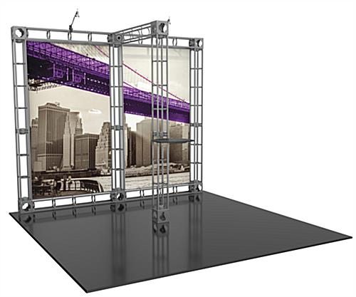 Orbus 10ft trade show booth display kit with frame and graphics