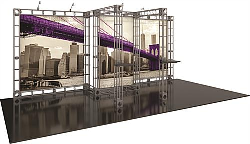 Orbus exhibit truss trade show display with frame and graphics