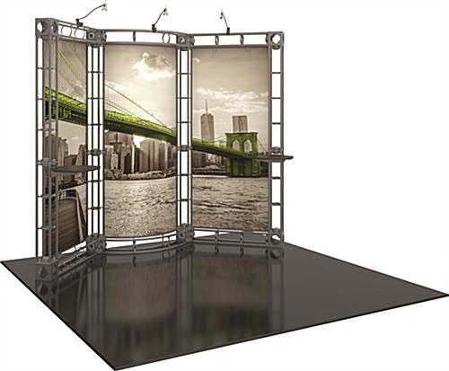 Orbus truss frame graphic backwall 10ft trade show display kit
