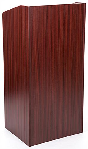 Collapsible podium with mahogany finish