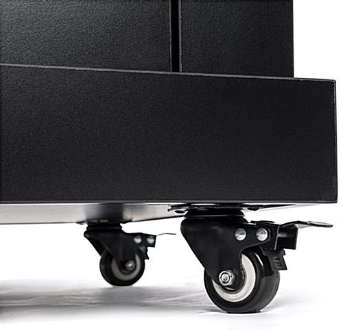 Rolling school podium on wheels