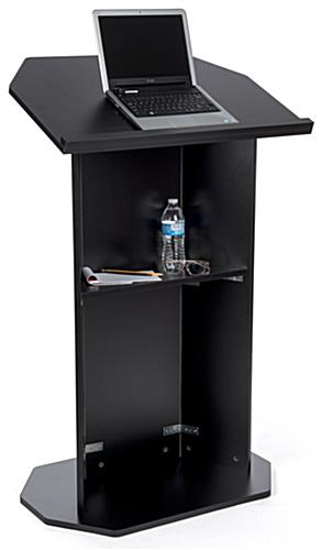 Black economy pulpit with reading lip