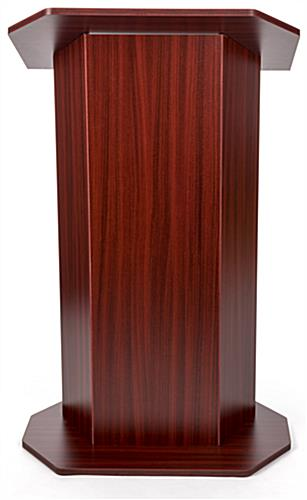 Wood affordable lectern with large reading surface