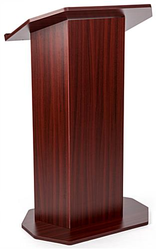 Wood affordable lectern for trade shows