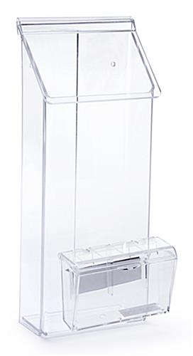 Outdoor Flyer Dispenser Multi Pocket Clear Acrylic