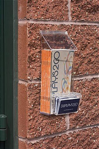 Outdoor Flyer Dispenser Multi Pocket Clear Acrylic