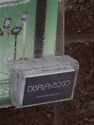 Weather-Resistant Outdoor Flyer Dispenser