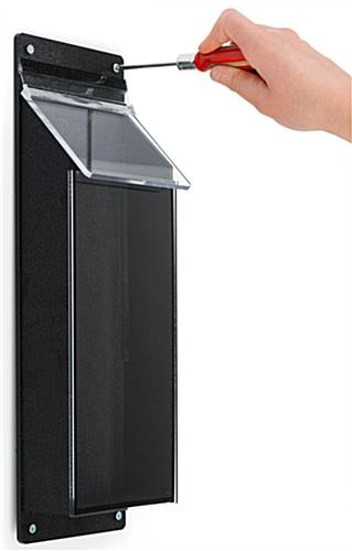 Outdoor pamphlet holder with installation hardware