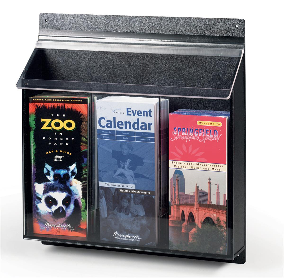 Outdoor Display Brochure Holders Weather Resistant Flyer Boxes