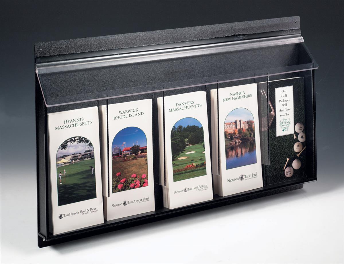 Outdoor Literature Holders 5 Pocket Wall Racks