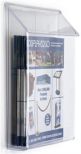Outdoor literature display for magazines