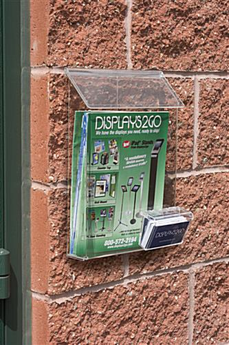 Outdoor Literature Dispenser for Exterior Wall Mounting