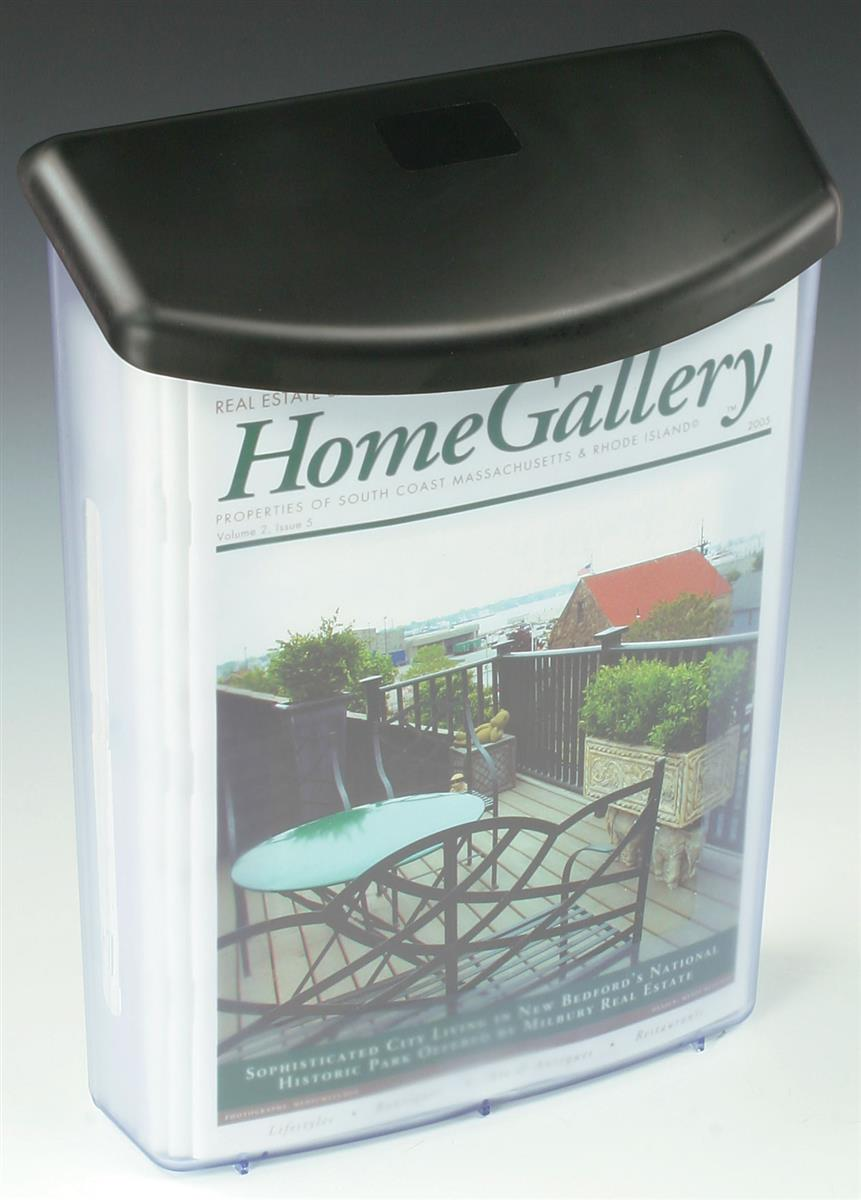 Outdoor Brochure Box Clear Plastic Display For Leaflets