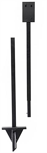 Two-piece black metal ground stake base for OPD85FR