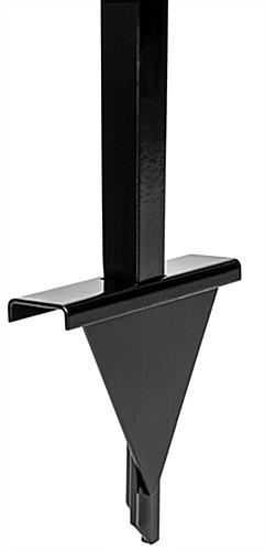 Sturdy black metal ground stake base for OPD85FR spike
