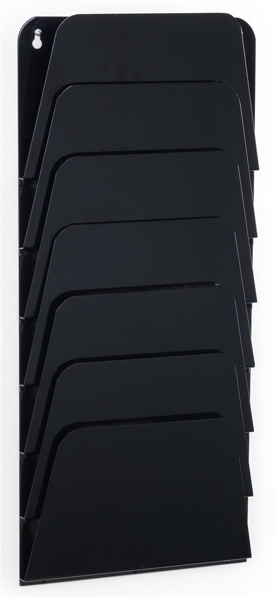 Wall Mount Black File Pocket Vertical Stacked