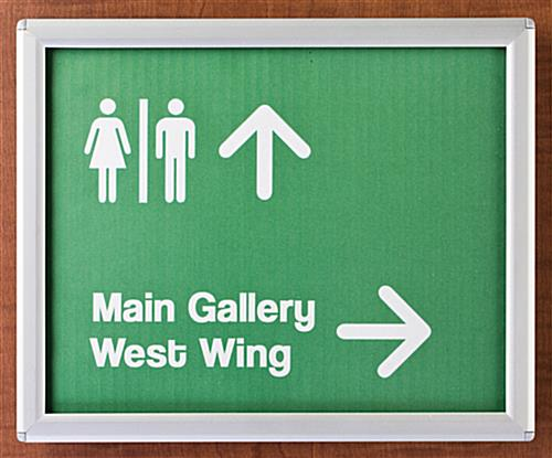 Directional Signs Give Directions To Visitors
