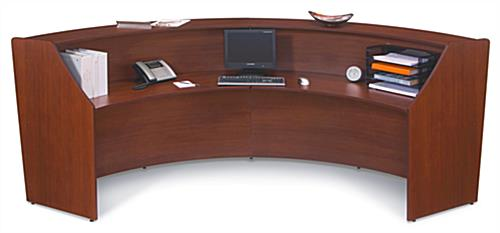 Curved Reception Desk for Secretarial Use