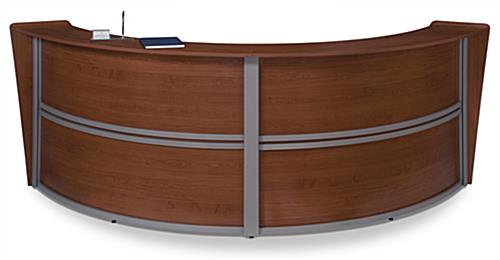 Cherry Curved Reception Desk