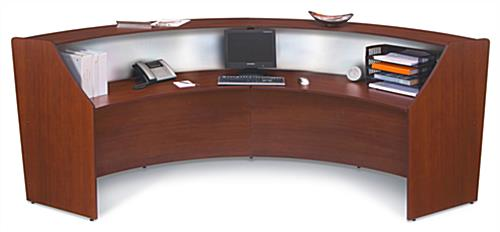 Reception Station with Cherry Finish