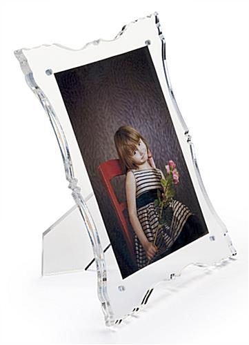 Acrylic Baroque Picture Frame Fits 5 X 7 Photograph