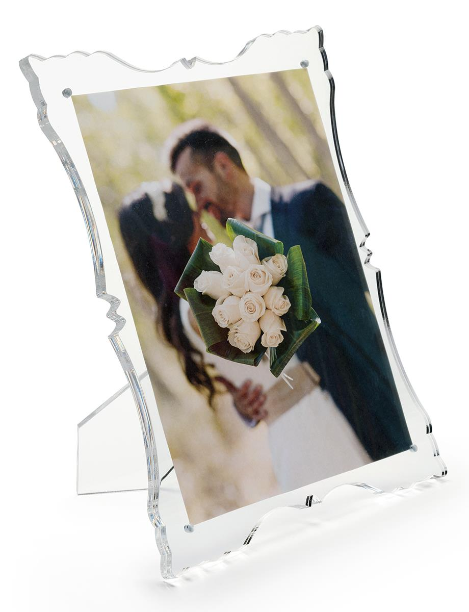 Rococo Acrylic Laser Cut Frame Holds 8 X 10 Picture