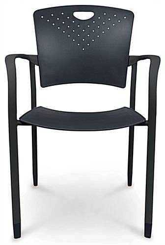 Black Stacking Chairs, Floorstanding