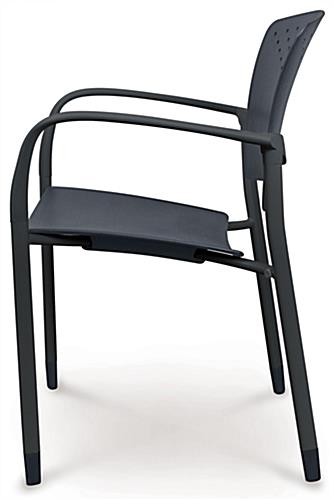 Black Stackable Chairs black stacking chairs | curved back and arms