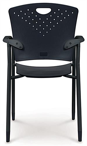 "Black Stacking Chairs, 16"" Backrest Height"