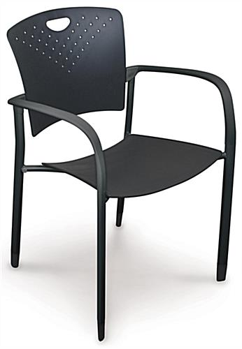 Black Stacking Chairs, Curved Back