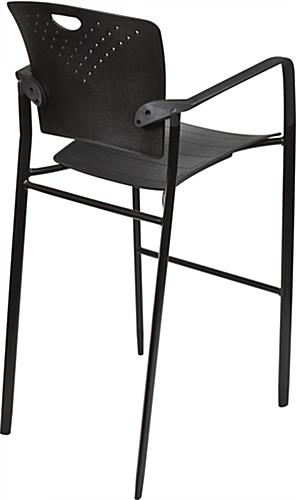 "Stackable Stool Chair, 23.5"" Overall Depth"