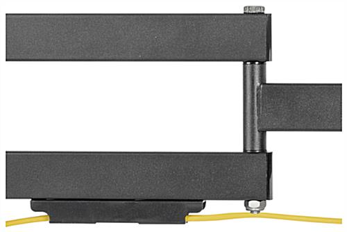 Outdoor TV wall bracket with full motion and cable management