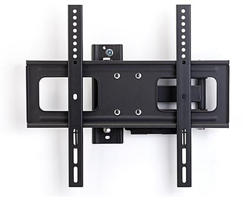 Outdoor TV wall bracket mounted to wall