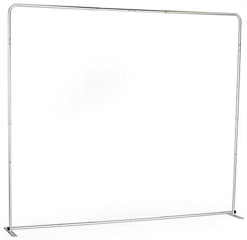 8' Trade Show Booth Backdrop with Easy to Assemble Aluminum Frame