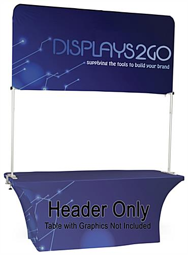 6' Trade Show Table Header with Full Color Graphics
