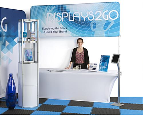 The 6' Trade Show Table & Header Looks Great In Any Expo Environment